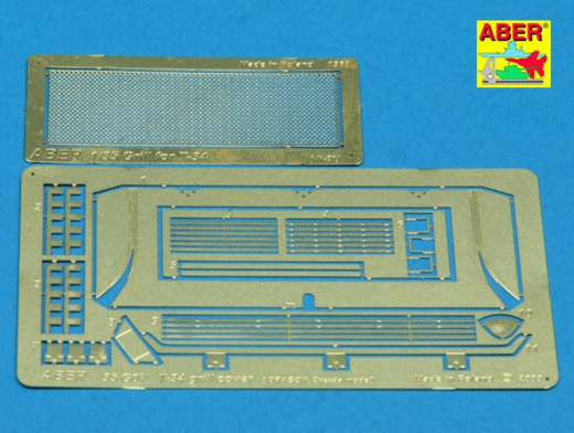 Grille covers for T-34  (Dragon) 1/35