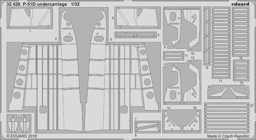 P-51D undercarriage  1/32  REVELL