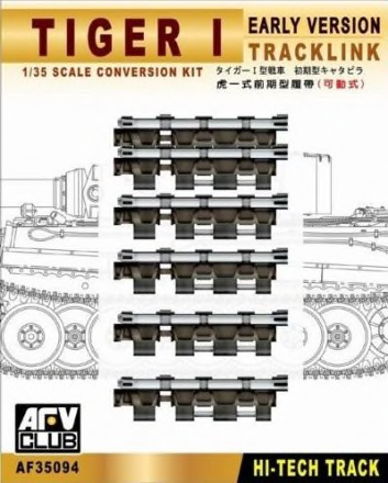 TRACKS TIGER I EARLY (ARTICULATED) 1/35