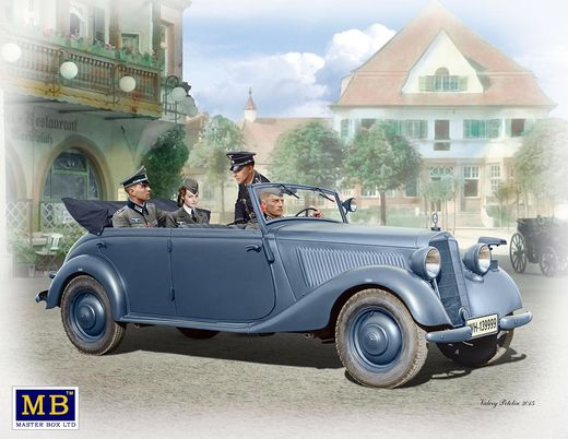 German military car MB 170V (with crew) 1/35