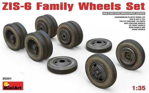 ZIS-6 Family Wheels Set 1/35