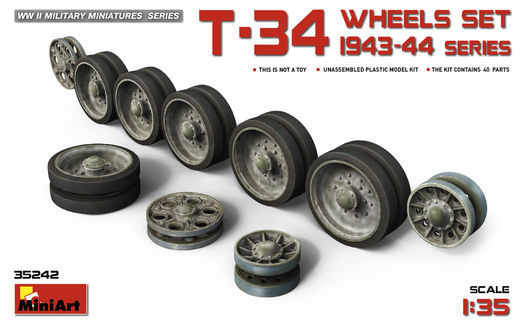 T-34 Wheels set (1943-44 series) 1/35