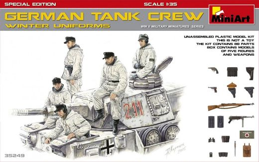 WW2 German Tank Crew (Winter) (Special edition) 1/35