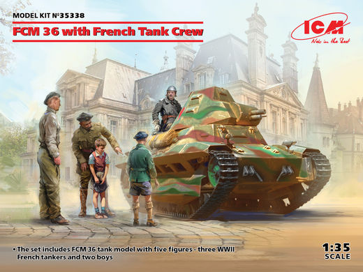 FCM 36 with French Tank Crew 1/35