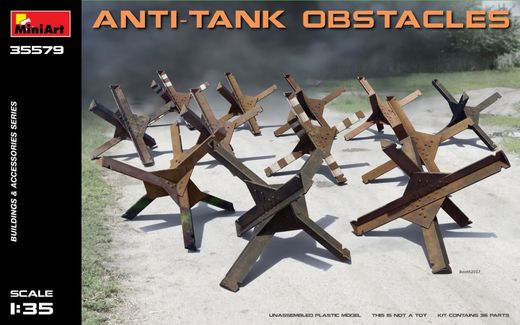 Anti-tank obstacles 1/35