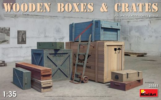 Wooden boxes & crates 1/35