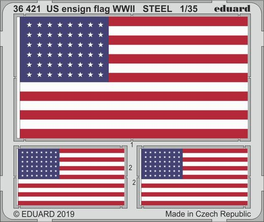 US ensign flag WWII STEEL 1/35