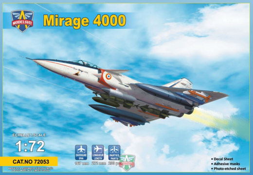 Dassault Mirage 4000 upgraded version  1/72