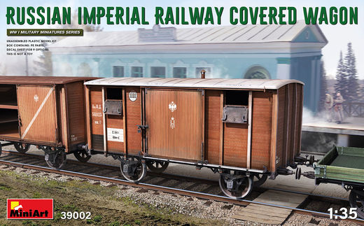 RUSSIAN IMPERIAL RAILWAY COVERED WAGON 1/35