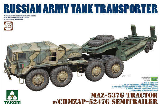 MAZ-537G Tractor with CHMZAP-5247G Semitrailer 1/72