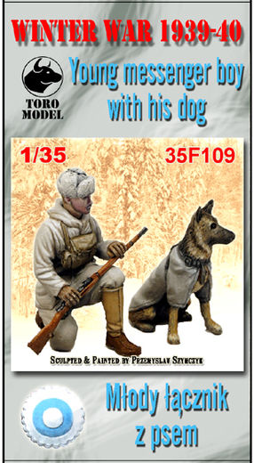 Winter War 1939-40 Young Messenger Boy with His Dog 1/35