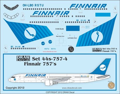 Finnair Old Colors 757s - Siirtokuvat / decals 1/144