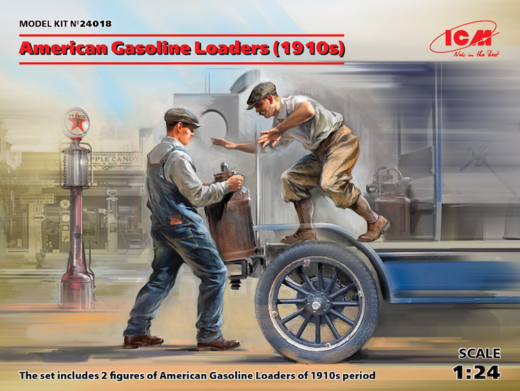 American Gasoline Loaders (1910s) (2 figures) 1/24