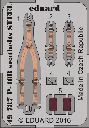 P-40B seatbelts STEEL 1/48 AIRFIX