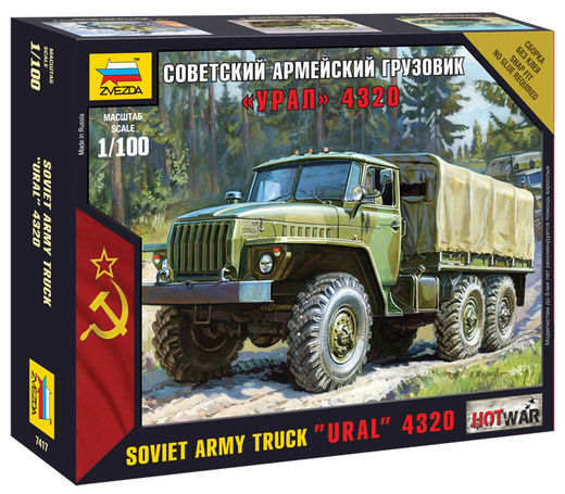 URAL 4320   Russian Army Truck 1/100 SNAP