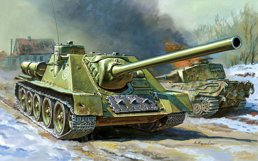 Soviet Self Propelled Gun SU-100  1/72 SNAP