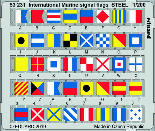International Marine signal flags STEEL 1/200