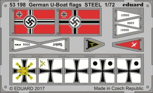 WW2 German U-boat flags 1/72