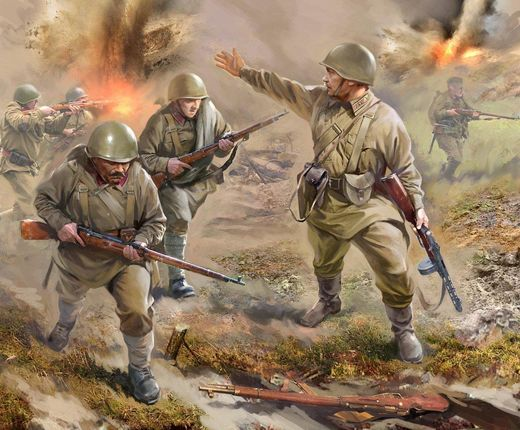 Soviet INFANTRY 1941 (10 FIG.) 1/72 SNAP