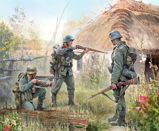 German INFANTRY EASTERN FRONT 1941  (10 FIG.) 1/72 SNAP