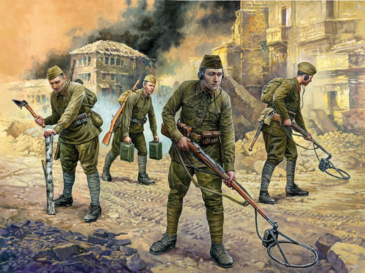 Soviet Engineers  (8 fig.+eq.)1/72 SNAP