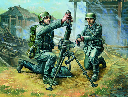 81mm Mortar with 2 Crew 1/72 SNAP
