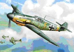 Messerschmitt BF109 F-2 WITH STAND 1/144 SNAP