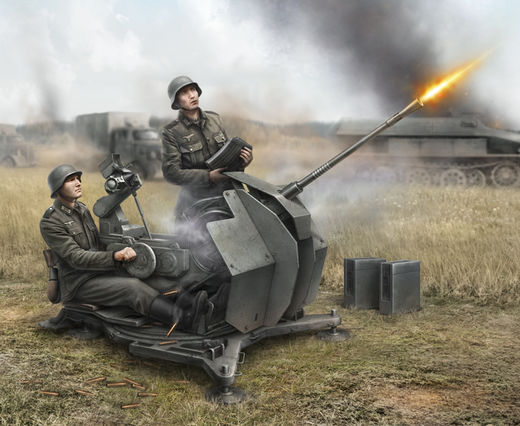 German 2 cm FLAK 38 with crew 1/72 SNAP
