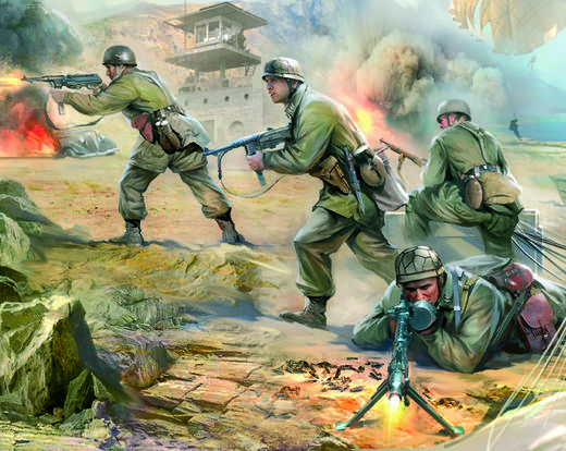 German Paratroopers (4 fig, equip.)  1/72 SNAP