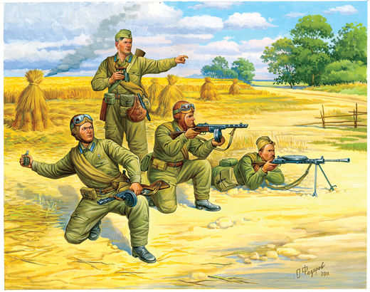 Soviet Paratroops (5 fig.) 1/72 SNAP