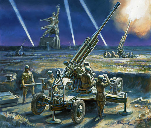 Soviet 85mm Anti Aircraft Gun (gun+2 fig.) 1/72 SNAP