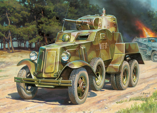 BA-10 Soviet Armored Car 1/100 SNAP