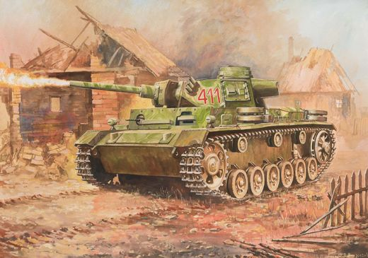 Panzer III Flamethrower Tank 1/100 SNAP