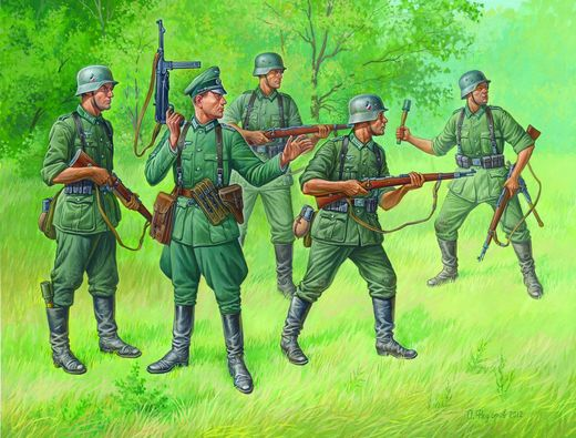 German Regular Infantry 1939-43 (5 fig.) 1/72 SNAP