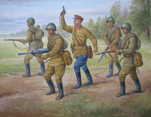 Soviet Regular Infantry 1939-1942 (5 fig.) 1/72 SNAP