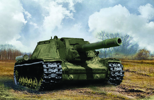 Soviet Self Propelled Gun SU-152 1/100 SNAP