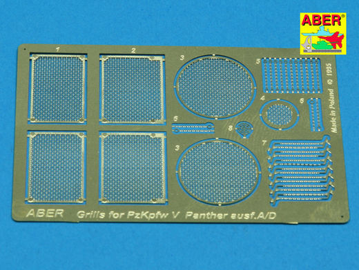 Grilles for Panzer V Panther Ausf.A/D 1/35