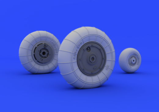 Messerschmitt Bf 109G-10 wheels 1/32