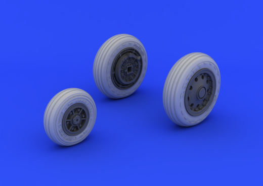 F-104 Starfighter undercarriage wheels (early type) ITA 1/32