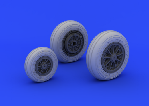 F-104 Starfighter undercarriage wheels (late type) ITA 1/32