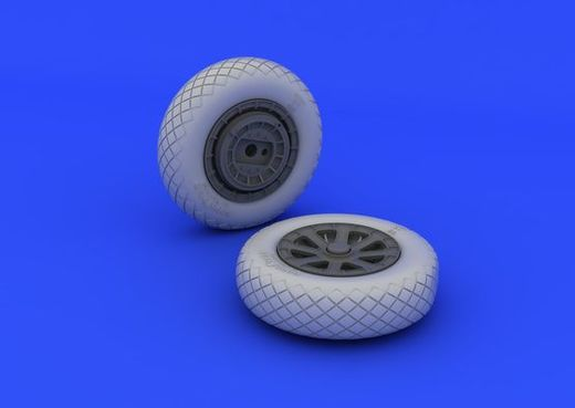 F4U-1 Corsair wheels (diamond pattern) TAM 1/32
