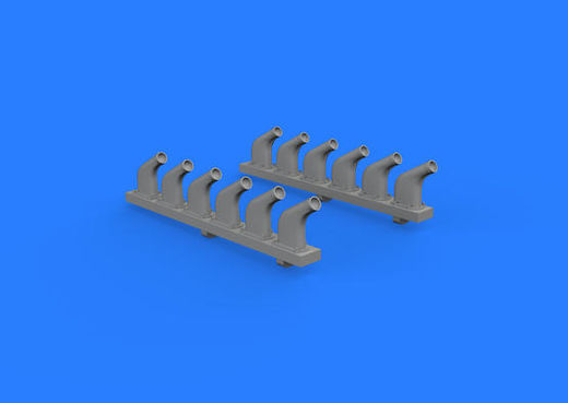 P-51D exhaust stacks 1/32 REVELL