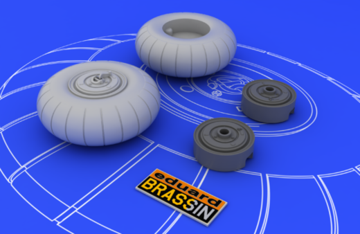 Bf 110 C/D main undercarriage wheels 1/48