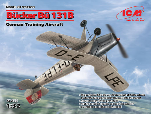 Bücker Bü 131B German Training Aircraft 1/32