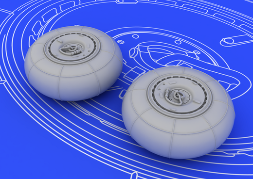 Messerschmitt Bf 110G wheels 1/72