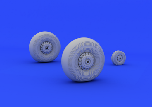 Avro Lancaster wheels 1/72