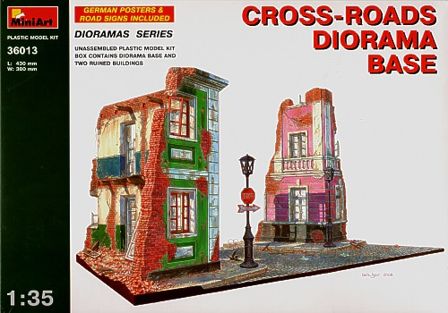 Cross-roads diorama base 1/35