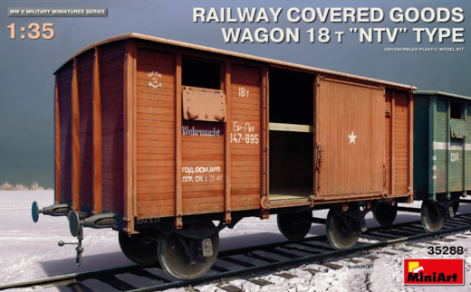 "Railway covered goods wagon 18t ""NTV"" type 1/35"