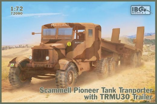 Scammell Pioneer Tank Transporter with TRUCU30 Trailer 1/72