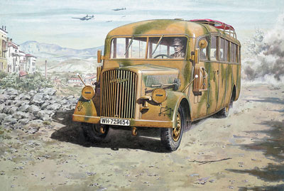 Opel Blitz Omnibus W39 late WWII service 1/72